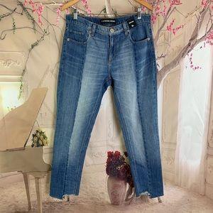 NEW Express High Light Midrise raw hem jeans